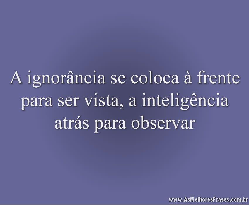 a-ignorancia