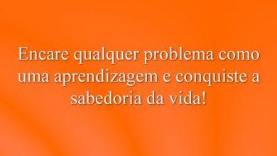 Encare qualquer problema como uma aprendizagem e conquiste a sabedoria da vida!