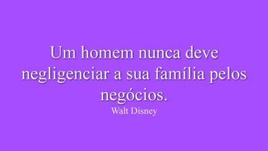 Um homem nunca deve negligenciar a sua família pelos negócios.